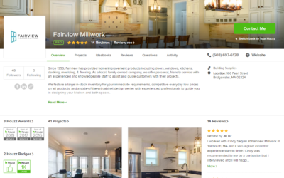 Fairview Millwork and Kitchens Awarded Best of Houzz 2019